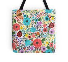 Colorful Floral Garden Tote Bag