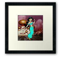 Splattered Jasmine Framed Print