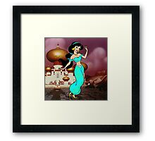 Splattered Jasmine Framed Print