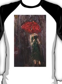 Pink Umbrella  T-Shirt