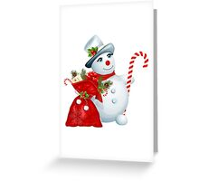 The Cutest Snowman Saves Christmas Greeting Card
