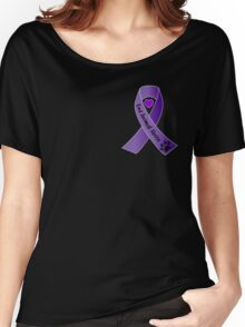 End Animal Abuse Ribbon Women's Relaxed Fit T-Shirt