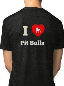 I Heart Pit Bulls Tri-blend T-Shirt