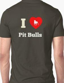 I Heart Pit Bulls Unisex T-Shirt