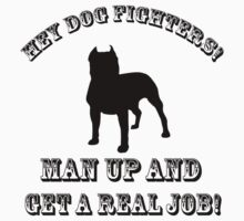 Dog Fighters- Get A Real Job! - Sticker by Sarah Ball (TheMaggotPie)