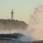 Waves Crashing at Norah Head Lighthouse, Australia by Nyakaya