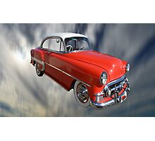 Red Classic Car From The 50s 60s Photographic Print