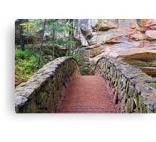 Stone Footbridge at Old Man's Cave Canvas Print