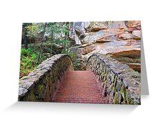 Stone Footbridge at Old Man's Cave Greeting Card