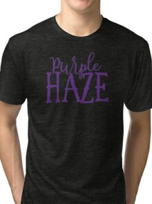 Hendrix - Purple Haze - Stoner Typography Design Tri-blend T-Shirt