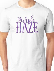 Hendrix - Purple Haze - Stoner Typography Design Unisex T-Shirt