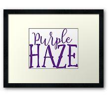 Hendrix - Purple Haze - Stoner Typography Design Framed Print