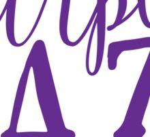 Hendrix - Purple Haze - Stoner Typography Design Sticker