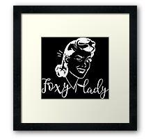 Foxy lady - Hendrix Lyrics Typography Girly Design Framed Print