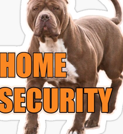 Home security pit bull Sticker