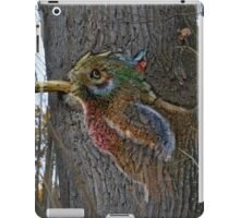 the bark bird iPad Case/Skin