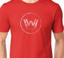 Westworld Logo White Distressed Unisex T-Shirt