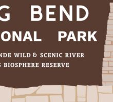 Big Bend National Park Sign, Texas, USA Sticker