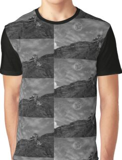 Vintage Car With A View In Black And White Graphic T-Shirt