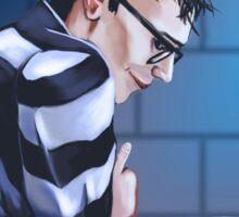 Eddie in Arkham Sticker