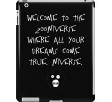 The Mighty Boosh – Welcome to the Zooniverse (White) iPad Case/Skin