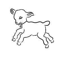 lamb running by alexandr-az