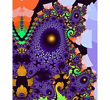 Colourful whimsical shapes and patterns Photographic Print