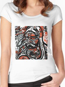 DARUMA DEEP NEURAL Women's Fitted Scoop T-Shirt