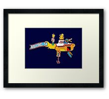 Yellow Submarine (sea of monsters) Framed Print