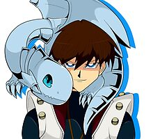 Seto and Blue eyes by GingerRoyalty