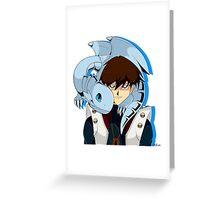 Seto and Blue eyes Greeting Card