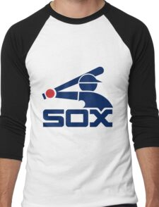 Sox White Men's Baseball ¾ T-Shirt