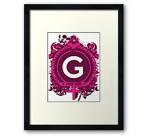 FOR HER - G Framed Print