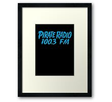 Pirate Radio - 100.3 FM - Shirt Framed Print