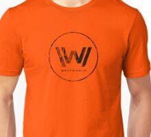 Westworld Logo Black Distressed Unisex T-Shirt