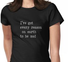 The Beatles Ill cry Instead Mad Crazy Angry Sarcasm Lyrics Text Womens Fitted T-Shirt
