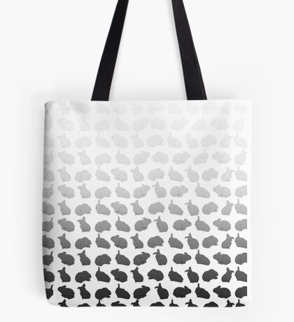 Bunny Pattern Gradient Tote Bag