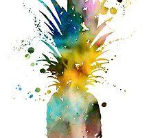 Pineapple 2 by Watercolorsart
