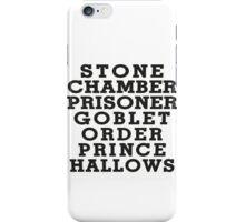 Stone Chamber Prisoner Goblet Order Prince Hallows iPhone Case/Skin