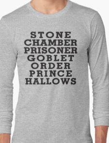 Stone Chamber Prisoner Goblet Order Prince Hallows Long Sleeve T-Shirt