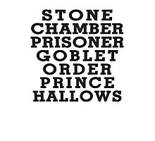 Stone Chamber Prisoner Goblet Order Prince Hallows Photographic Print