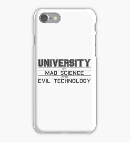 University of Mad Science and Evil Technology iPhone Case/Skin