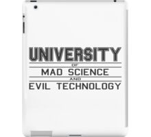 University of Mad Science and Evil Technology iPad Case/Skin