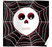 Skull & Webs (Color) Poster