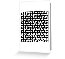Bunny Pattern Black Greeting Card
