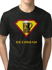 Beerman Superman Parody Tri-blend T-Shirt