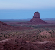 Twilight At Monument Valley Sticker