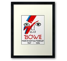 A Tribute to Bowie Framed Print