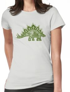 Stegosaurus Lace - Green Womens Fitted T-Shirt