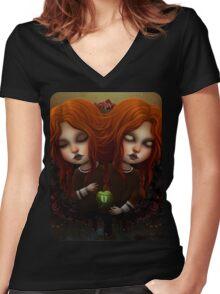 Reborn Women's Fitted V-Neck T-Shirt
